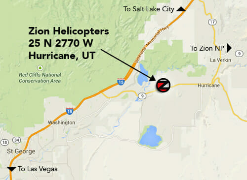 Zion Helicopters Map