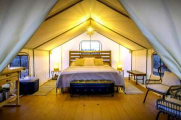 glamping in zion tent