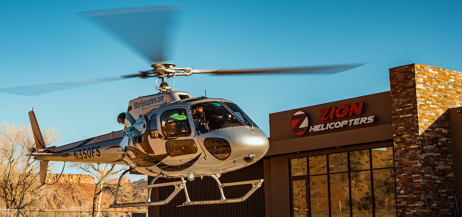 zion helicopter heliport departure